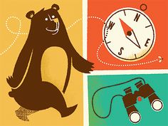 Some parts of the lovely Camp 2013 designs by @Bradley Huber Woodard. Can't get enough of that adorable bear with his bumble bee.
