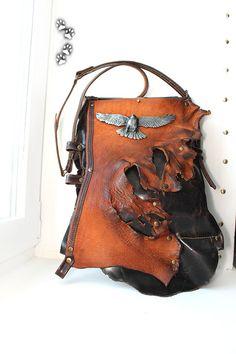 """Сумка из натуральной пулл-ап кожи с винтажной пряжкой """"Bergamot"""" / Handbag genuine pull-up leather vintage buckle belt """"Bergamot"""" handmade"""