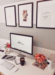 Decoração do escritório (via Bloglovin.com )