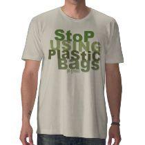 Pare el usar de las bolsas de plástico gogreen la  tshirts por UTeezGoGreen