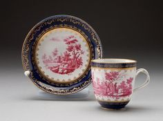 Cup and Saucer, c. 1775; Doccia Porcelain Factory, Italian