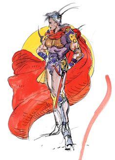 Final Fantasy II - Firion - Yoshitaka Amano