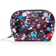 kate spade new york Grant Lane Small Annabella Splatter Paint Cosmetic... (€58) ❤ liked on Polyvore featuring beauty products, beauty accessories, bags & cases, jewel multi, make up purse, makeup bag case, toiletry kits, makeup purse and purse makeup bag