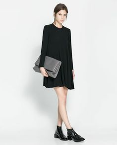 Image 1 of ROUND NECK DRESS WITH SEAMS from Zara