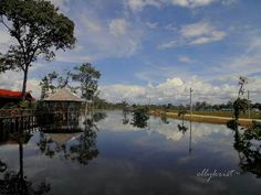 Mining Camp at Port Teluk Betung Central Kalimantan INDONESIA  #nature #water #sky #indonesia