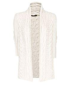 MANGO - Cárdigan oversized lana algodón