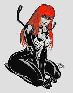 Mary jane she-venom symbiote transformation | Sexy ...