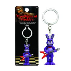 This is the Five Nights At Freddy's Bonnie Figure Keychain. The Bonnie figure keychain stands about 1.5 inches tall and is well detailed! Great for any fan of Five Nights at Freddy's and Funko. Super