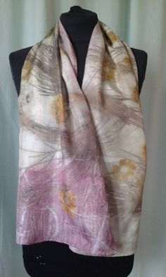 Check out this item in my Etsy shop https://www.etsy.com/listing/227735875/silk-scarf-leaf-print-oblong-nature