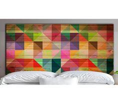 Tablie de pat Low Poly Rainbow - Vivre