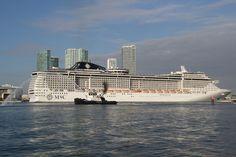 MSC Divina Port Miami http://www.tipsfortravellers.com/msc-divina-port-miami-arrival-photos/ #MSCDivina