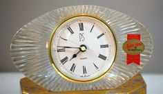 Anna Hutte Lead Crystal Made In Germany Desk Clock