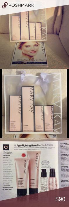 Mary Kay Timewise Miracle Set - Combo/oily skin Make Timewise Miracle Set for combination/oily skin. Reduces appearance of lines and wrinkles, improves skin resilience, softer more supple skin, helps even skin tone. This skin regime is amazing! Mary Kay Makeup