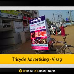 tricycle, riksha advertisement in vizag,visakhapatnam.