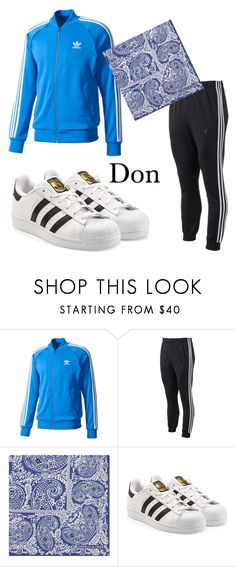 """""""Don"""" by k-popcornpaco on Polyvore featuring adidas, Turnbull & Asser, adidas Originals, men's fashion and menswear"""