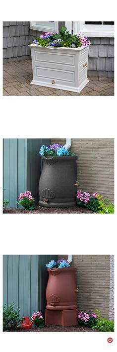 Shop Target for rain barr - Diy How to Crafts Backyard Projects, Outdoor Projects, Outdoor Decor, Dream Garden, Garden Art, Yard Design, Front Yard Landscaping, Container Gardening, Outdoor Gardens