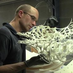 Dutch Fashion Designer Iris van Herpen talks about her inspiration, her background and partnerships. The video is recorded in her studio and also shows her work process.