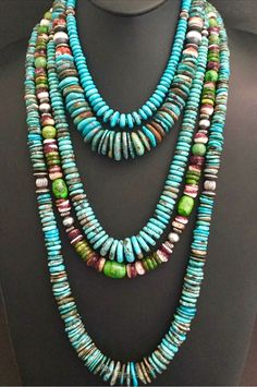 Native American turquoise beads