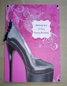A5 High heel shoe Birthday Card