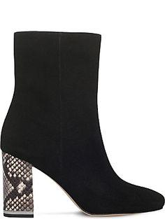 MICHAEL MICHAEL KORS Ursula reptile-effect suede boots