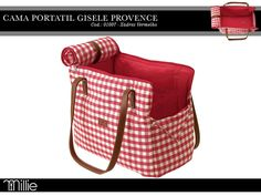 Bolsa Gisele Provence Vermelha http://www.millie.com.br/provence