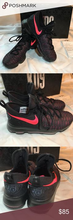 purchase cheap 6b1e6 4d173 NIKE ZOOM Kay Yow Cancer Fund Kd9 Aunt Pearl Shoe NIKE ZOOM Kay Yow Cancer  Fund Kd9 Aunt Pearl Black Hot Pink Youth 7 New with Box, Bag and Receipt  AWESOME ...