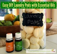 These Easy DIY Laundry Pods made with essential oils will leave your laundry fresh, clean, soft, and smelling great.