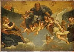 God the Father in Glory, Surrounded by Angels.