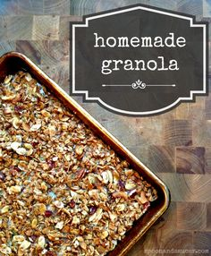 So simple to make your own granola at home!  Homemade (Gluten-Free) Granola - Spoon & Saucer