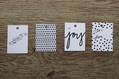 Simple Gift Tags from Say Yes | Curbly