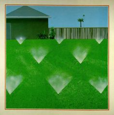 David Hockney. A lawn being sprinkled
