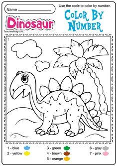 Free Dinosaur Printables for Preschool Dinosaur Worksheets, Dinosaur Theme Preschool, Body Preschool, Dinosaur Printables, Dinosaur Activities, Preschool Colors, Free Preschool, Preschool Printables, Preschool Lessons