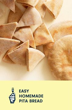 As long as you have time to let the dough rise, making your own pita bread is much easier than you might think. Plus, it's fun to watch them puff up in the oven! Serve your homemade pita bread warm with hummus, stuff them with falafels and fresh veggies, or toast them to make chips that you can dip in salsa. Whole Food Recipes, Snack Recipes, Homemade Pita Bread, Vegan Casserole, Cooking Courses, Falafels, Loaded Baked Potatoes, Free Meal Plans, Recipe Ratings