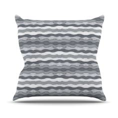 "Empire Ruhl ""51 Shades of Gray"" Gray White Throw Pillow | KESS InHouse"