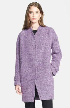 Rebecca Taylor Bouclé Cocoon Coat