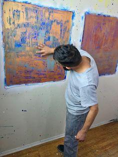 www.NestorToro.com #OilPastels #Sennelier #artSupplies #abstract #landscape #LosAngeles #NestorToro #LA