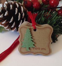Christmas gift tags set of 6 thank your etsy customers