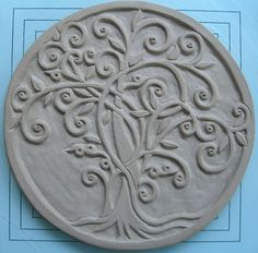 carved tree curls pottery ceramics clay