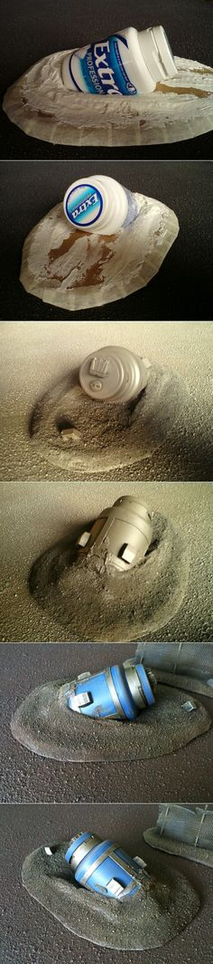 Escape pod terrain piece for wargaming.
