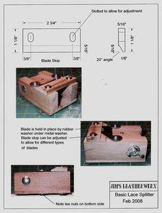 TÉCNICAS DE CUERO: ¿cómo construir herramientas para el cuero? Leather Carving, Leather Tooling, Sewing Leather, Leather Pattern, Leather And Lace, Diy Leather Craft Tools, Leather Projects, Diy Leather Splitter, Bull Rope