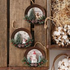 Raz imports christmas pie tin shadow box ornament assorted made of plastic tin great for mantles wreaths trees centerpieces and much Homemade Christmas Gifts, Diy Christmas Ornaments, Christmas Projects, Handmade Christmas, Holiday Crafts, Vintage Christmas, Christmas Wreaths, Christmas Crafts, Reindeer Ornaments