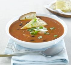 Mexican bean and tomato soup   Healthy Food Guide