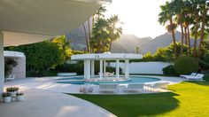 Here is a Bright White Circular 1970s Mansion in Rancho Mirage That's Cool as Heck - On the Market - Curbed LA