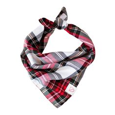 A hip neckerchief for hound and/or human from new London brand Vackertass. Classic fold and tie fastening with rugged zig-zagged edges.