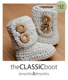 visit http://hookedboutique.blogspot.com/p/wait-list.html   for current turn around times    These adorable winter boots are perfect for any little one who wants to stay warm & stylish. Custom hand crocheted with 100% cotton yarn.    When ordering, please indicate the color you would like for you...
