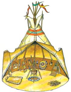 Tipi Native American Projects, Native American Teepee, Native American Symbols, American Indian Art, Native American History, Native American Indians, Indian Project, Red Indian, Cowboys And Indians