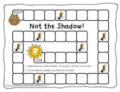 Not the Shadow! Tailored to whatever standard you are working on. Will try to use with assessments for colors and shapes this week Preschool Groundhog, Groundhog Day Activities, Preschool Games, Work Activities, Holiday Activities, Therapy Activities, Spring Theme, School Daze, In Kindergarten