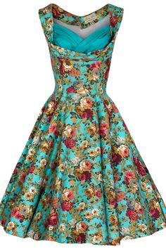 Vintage Inspired 50's Garden Party Picnic Dress.
