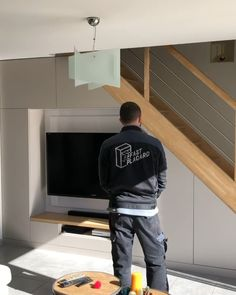Home Stairs Design, Home Room Design, Home Interior Design, Living Room Designs, Modern House Design, Living Room Under Stairs, Under Stairs Nook, Under Stairs Cupboard, Staircase Storage