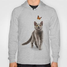 Cat Lovers HoodyAmerican Apparel California Fleece Pullover Hoody made with a 100% California Fleece cotton. Complete with kangaroo pocket this stretchy, comfortable fit, unisex cut includes double-stitched cuffs and hem.